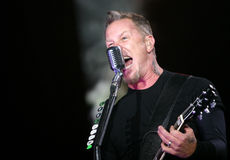 Metallica op Sopnisphere festival CZ Stock Foto's