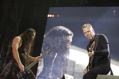 Metallica  performs in Budapest Stock Photography