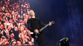 Metallica on Sopnisphere festival CZ Stock Photography