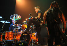 Metallica on tour Royalty Free Stock Photos