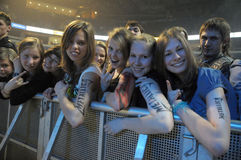 Metallica on tour. The fans Royalty Free Stock Image
