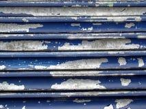 MetallicTextured-Hintergrund - alte blaue gebrochene Farbe Lizenzfreie Stockfotografie