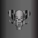 Metallina demonica dell'argento del cranio Immagini Stock Libere da Diritti