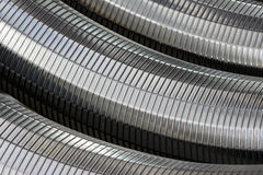 Metallineinander greifen Stockfotos