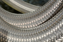 Metallineinander greifen Stockbilder
