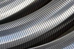 Metallineinander greifen Stockfoto
