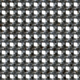 Metallineinander greifen-Grill Stockfotografie