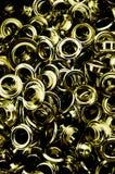 Metallische Ösen stockfotografie