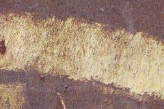 Metallische alte Wand Garagentor Beschaffenheit Lizenzfreies Stockfoto