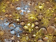 Metallische Blasen Stockfotos