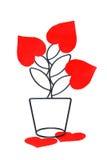 Metallische Blume, abstrakt Stockbilder