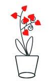 Metallische Blume mit Herzen Lizenzfreie Stockbilder