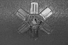 metallische Dosen Stockbild