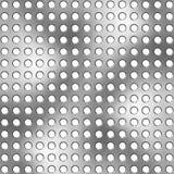 Metallische durchlöcherte Oberfläche stock abbildung