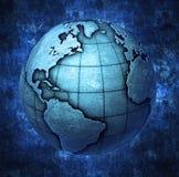 metallische Erde 3D lizenzfreie abbildung
