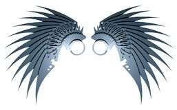 Metallische Flügel vektor abbildung