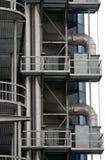Metallische Gebäudestruktur Stockbilder