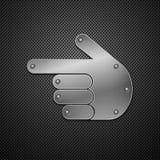 Metallische Handikone. Stockfoto
