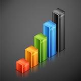 Metallische infographics Elemente Lizenzfreies Stockfoto