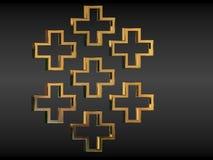 Metallische Kreuze stockfotografie