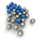 Metallische Marmore im Blau und im Chrom vektor abbildung