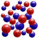 metallische Mehrfarbenbälle 3D Vektorbild, Abbildung Lizenzfreie Stockbilder