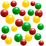 metallische Mehrfarbenbälle 3D Vektorbild, Abbildung Stockfotografie