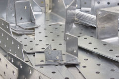 Metallische Platten Stockbild