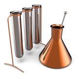 Metallische Reagenzgläser (Mieten) Lizenzfreies Stockfoto