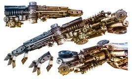 Metallische Roboterhand Stockfotos