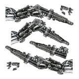 Metallische Roboterhand Stockfoto