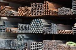 Metallische Rohre Stockbild