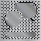 Metallische Spracheluftblasenikonen Lizenzfreies Stockbild