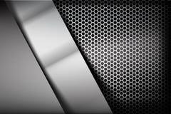 Metallische Stahl- und Bienenwabenelementhintergrundbeschaffenheit 007 Lizenzfreie Stockbilder