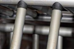 Metallische Stangen des Käfigs Stockbild