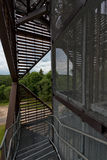 Metallische Struktur des Wachturms in Anyksciai Litauen Lizenzfreie Stockfotos