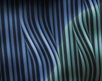 Metallische wellenförmige Streifen des blauen Grüns Stockfotos