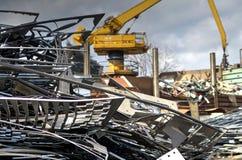 Metallischer Abfall Stockfoto
