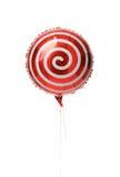 Metallischer Ballon der einzelnen Rotspirale für Geburtstag Stockbild