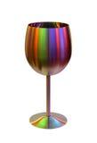 Metallischer Becher für Wein in der Farbe beleuchtet auf Weiß Lizenzfreie Stockbilder