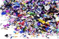 Metallischer Confetti Lizenzfreie Stockfotos