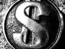 Metallischer Dollar-Hintergrund stockfotos