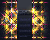 Metallischer goldener Vektor-Hintergrund Stockbilder
