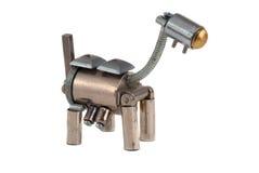 Metallischer Hund. Stockfotografie