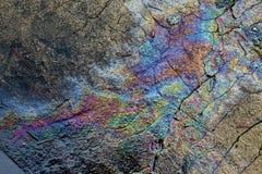 Metallischer Regenbogen farbige Straße Stockfoto