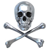 Metallischer Schädel Stockbild
