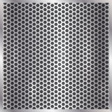 Metallischer silberner Hintergrund des Vektors Zell stock abbildung