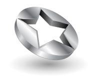 Metallischer Stern des Zeichens stock abbildung
