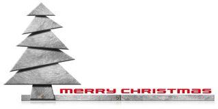 Metallischer und stilisierter Weihnachtsbaum Lizenzfreies Stockfoto