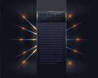 Metallischer Vektor-Hintergrund Stockfoto
